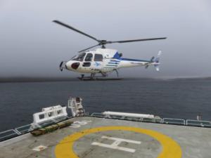L'hélicoptère en action