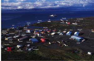 Vue aérienne de PAF (photo TAAF)